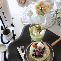 クチポール GOA ホワイト/マットゴールド デザート フォーク スプーン セット | クチポール(フォーク)を使ったクチコミ「おうち時間 実行中であります🙏  …」