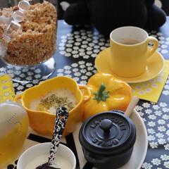 わが家の食器/食器/マリメッコ/北欧/フランス/ストウブ/... 朝食の準備で使うのはストウブのセラミック…