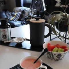簡単スープ/料理/スープ/marimekko/マリメッコ/おすすめアイテム/... 夏のひんやりスープ  今日はトマト🍅のビ…