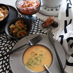 イッタラ カステヘルミ グレー 5923 プレート 17cm | イッタラ(皿)を使ったクチコミ「今日のお昼ごはん オレンジ🧡ビーツに パ…」