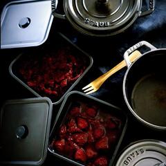 ジャム作り/ビーツとリンゴのジャム/ビーツ/苺ジャム/苺/イチゴ/... 🍓の大粒を見つけたので ジャムを作って…