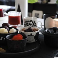 わが家の食器/食器/器/白黒/白黒食器/モノトーン/... 白黒を中心としたわが家で多いのはブラック…