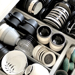 staub ストウブ セラミック 薬味 耐熱 陶器 電子レンジ対応 Ceramic Wabi-Sabi Set 40500-342 | STAUB(鉢、ボウル)を使ったクチコミ「食器収納の見直し中  昨日手をつけたのは…」
