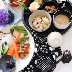 チキンマリネ/玄米ご飯/胡麻豆腐/簡単料理/時短調理/手料理/... 幸せわたしのごはん  主婦ランチ は パ…