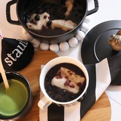 和スイーツ/餅/おしるこ/ぜんざい/ストウブ/冬/... わたしの手作り 1月になるといつも食べた…