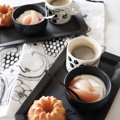 アラビア パラティッシ ブラック ティーカップ&ソーサー 280ml 北欧 食器 カップ&ソーサー ブラックパラティッシ おしゃれ | Paratiisi(カップ、ソーサー)を使ったクチコミ「今日の朝食 小麦アレルギーの為 グルテン…」