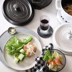 幸せわたしのごはん/令和の一枚/LIMIAごはんクラブ/おうちごはんクラブ/キッチン雑貨/わたしのごはん/... 幸せわたしのごはん 夕食はワインに合わせ…