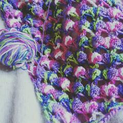 かぎ針編み/三角ストール/編み物/ストール/ファッション/ハンドメイド/... かわいらしいウールの毛糸が届いた~✌ワク…