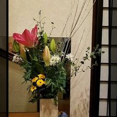 グリーン/花のある暮らし/玄関の花/花
