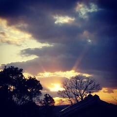 夕日/夕暮れ/夕陽/いいねTop10決定戦/はじめて投稿したよ!/LIMIAFESTA/... 3.11この日を忘れません。  夕方、ふ…
