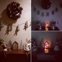 クリスマスディスプレイ/クリスマスリース/クリスマス/クリスマスツリー/雑貨/100均/... X'mas display✨🎄✨  リー…