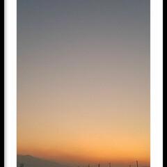 オレンジ色/夕焼け/夕陽 『夕陽』