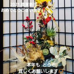 正月飾り/しめ縄アレンジ/しめ縄 新年、明けまして おめでとうございます🎍…(1枚目)