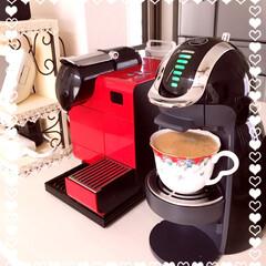 コーヒー/ティータイム/ネスプレッソ/ドルチェグスト/キッチン *ネスプレッソ&ドルチェグスト* で、テ…