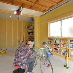 ガレージ/ビルトインガレージ/車庫/趣味のガレージ ビルトインガレージ。趣味の自転車の…