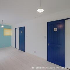 子供部屋/ポップな子供部屋/ブルーな子供部屋/かわいらしい子供部屋/個性的子供部屋/将来の子供部屋 将来、必要に応じて2つに間仕切ることがで…