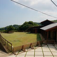景観/高台/木造平屋/ドッグラン/芝生/ペットと泊まれる宿/... 高台の土地で、この場所から見下ろす有明海…