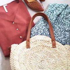 しまむら/バッグ/かごバッグ/アベイル/プチプラ 今年の夏に買ったバッグの中でも、一番のお…