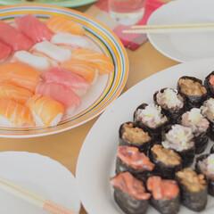 わたしのごはん/寿司/家ごはん/にぎり寿司 わが家では、月に一度のペースで「寿司の日…