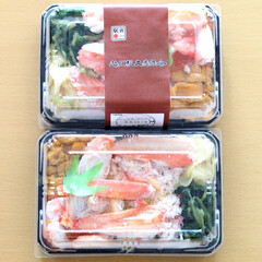 北海道/お弁当/海鮮弁当/おうちごはん/カニ/ウニ/... デパートの「北海道展」で買ったお弁当。た…