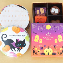 スイーツ/甘党/ハロウィン/プレゼント/チョコレート/ゴーフル/... ハロウィンのスイーツ。左は神戸風月堂のプ…