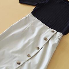 しまむら/スカート/合皮スカート/レザースカート/しまむら購入品/プチプラ/... しまむらで合皮のスカートを購入しました。…