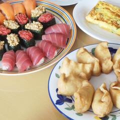 おうちごはん/寿司/にぎり寿司/いなり寿司/暮らし/LIMIAごはんクラブ 月に一度のお寿司の日。いつもはにぎり寿司…