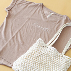 しまむら/Tシャツ/ロゴTシャツ/ネットバッグ/しまむら購入品/プチプラ/... 先日購入したTシャツは、しまむらとコシノ…