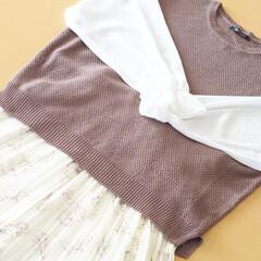 しまむら/プルオーバー/スカート/花柄スカート/レイヤード/プチプラ/... しまむらでプルオーバーとスカートを合わせ…