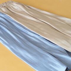 スカート/サテンスカート/レディース/春物/アベイル 光沢のあるサテン生地のスカートは、春のト…