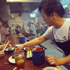 やきとり/やきとん/ミッキーマウス/東松山/埼玉 店内は換気が全然足りてなくて、煙でもくも…