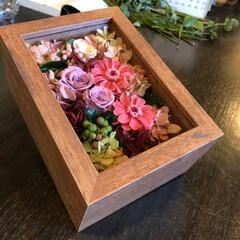 LIMIAおでかけ部/フォロー大歓迎/おでかけ/インテリア/ファッション/春の一枚 お気に入りのお花屋さんで注文したプリザー…