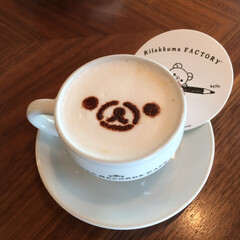 リラックマ/リラックマカフェ/カフェ風インテリア リラックマカフェにて。 もはやカフェ風で…