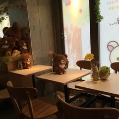 リラックマ/リラックマカフェ/こぐまちゃん/チャイロイコグマ リラックマカフェですが、時間制の入れ替え…
