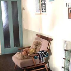 ミルクペイント/ドア/ペイント ドアと腰板をペイントしました。 お部屋の…