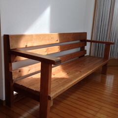 ベンチ/木製ベンチ 15年前くらいの初大物。