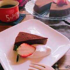 コーヒー/手作りケーキ/おうちカフェ/スイーツ/セリア/住まい 生クリームを添えて(୨୧ᵕ̤ᴗᵕ̤) 断…