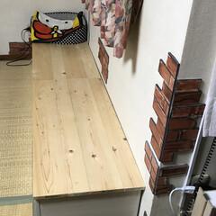 DIY/ベンチ/1×4材/1×6材/ホームセンター/収納 カラーボックスベンチ