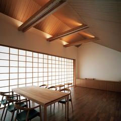 つなぎ梁の家/建築/住まい/インテリア つなぎ梁の家  シンプルな切妻屋根のシル…
