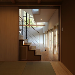 住宅/建築/インテリア/山に向かう家/新築/住まい/... 山に向かう家  設計:プライム一級建築士…(1枚目)