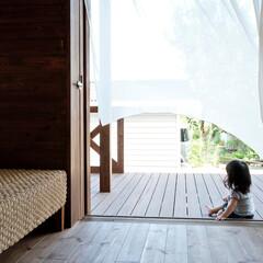 住まい/建築/建築家/アジアンスタイル/カーテン/木の家/... アジアンスタイル木庵(コアン) 夏の午後…