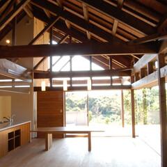 アジアン/平屋/テラス/テラスハウス/木の家/木組み アジアンテラスハウス
