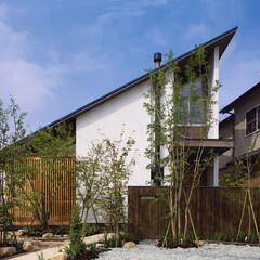 木造住宅/コアン/北欧モダン/格子/雑木の庭/片流れ屋根/... 木庵(コアン) 子育て世代を対象にした延…