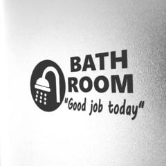 浴室・風呂/ステッカー/DIY/インテリア/ハンドメイド 風呂掃除のついでにステッカー作ったった!…