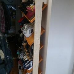 靴の収納 5人家族なのでたくさん靴が置けるようなり…