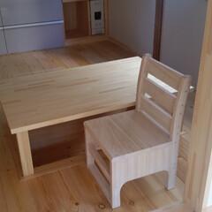 「堀ごたつ&座卓の製作 天然木で作るリフォ…」(1枚目)