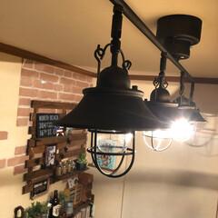 カフェインテリア/ダイニング/シーリングライト/カフェ風インテリア カフェ風・シーリングライト!本日届いたの…