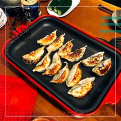 BRUNO/餃子/おうちごはん 晩御飯🍚❣️ 娘のリクエストの餃子🥟です…