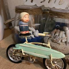 ばぁちゃん、お出掛け?/トトロ/自転車 ちょっと!誰〜〜? ばぁ〜ちゃん乗せたの…