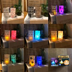 クッキングシート/LED CANDLE/DIY/セリア/インテリア これもセリアのLED  CANDLE!買…